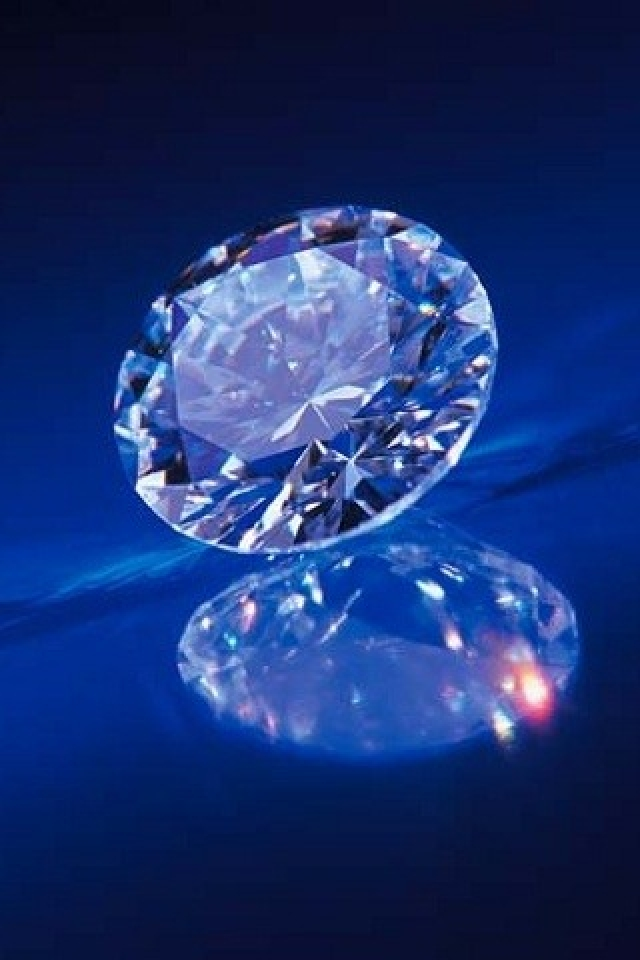 Blue Diamond Unexpressed iPhone Wallpaper HD iPhone 640x960