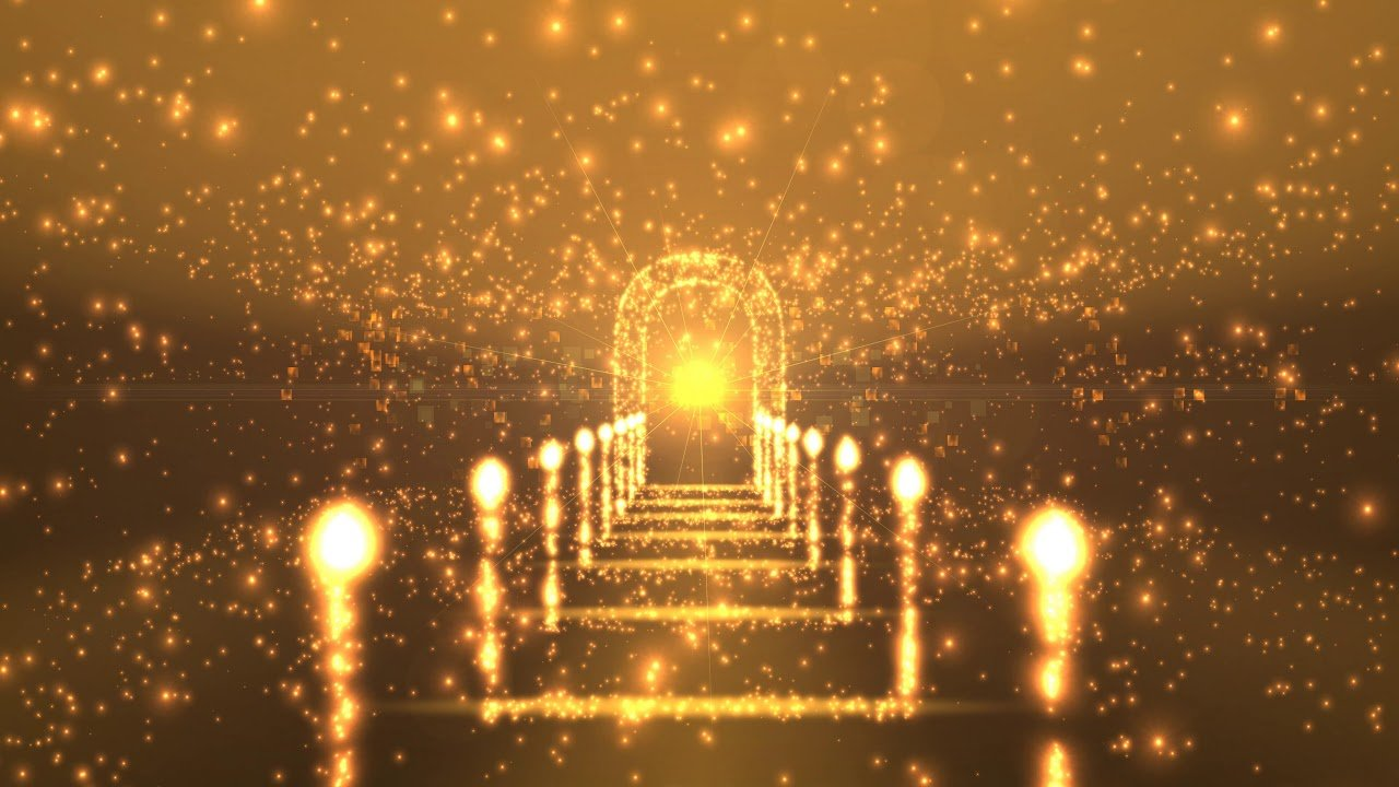 4K The Golden Awards   Glowing Pathway AAVFX Moving Background 1280x720