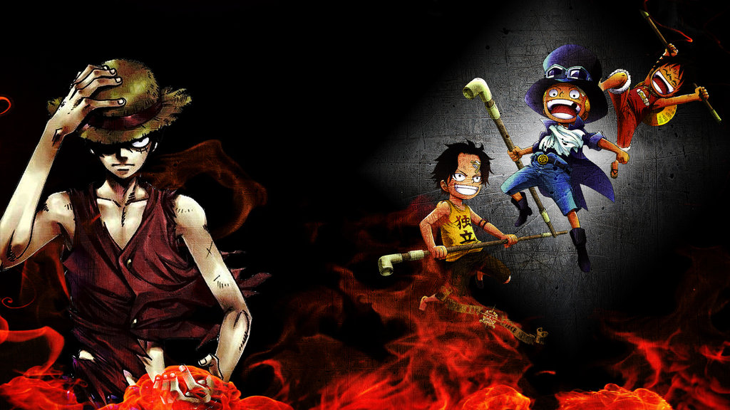 One Piece Wallpaper 1920x1080 One piece brother wallpaper 1024x576