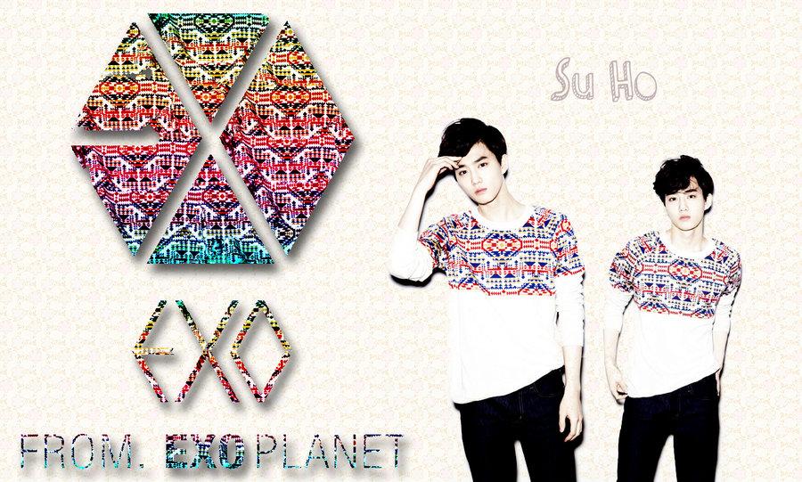 Exo Logo Wallpaper Exo m kris wallpaper 2 years 900x541