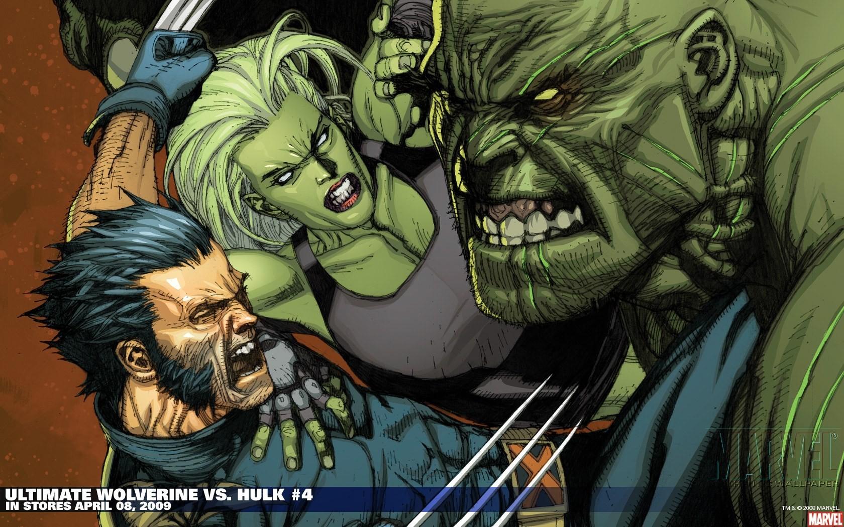 Hulk comic character comics wolverine she marvel wallpaper 1680x1050