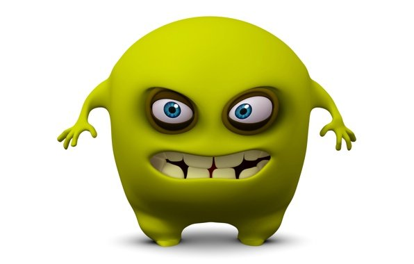 Funny 3d Cartoon Wallpapers: Cute Animated Monster Wallpaper