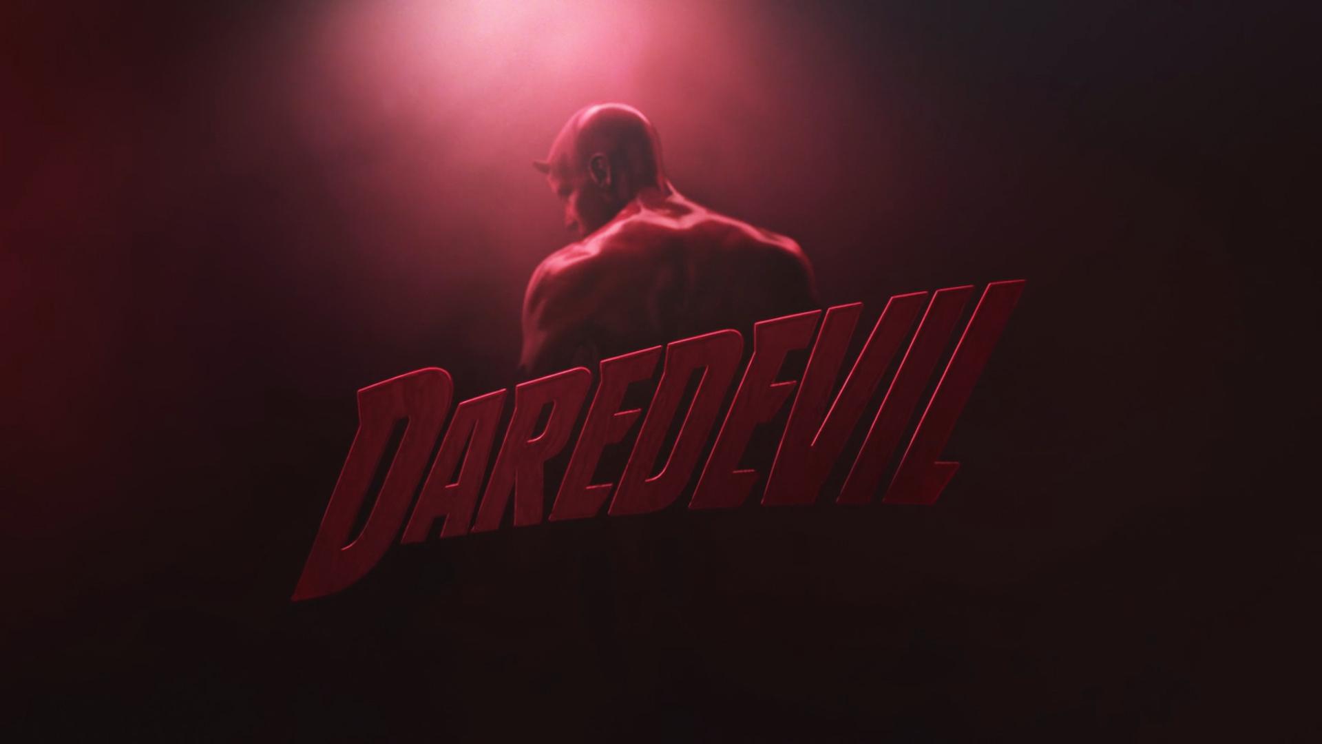 Marvels Daredevil TV Series Red Devil and Logo Intro Wallpaper 1920x1080