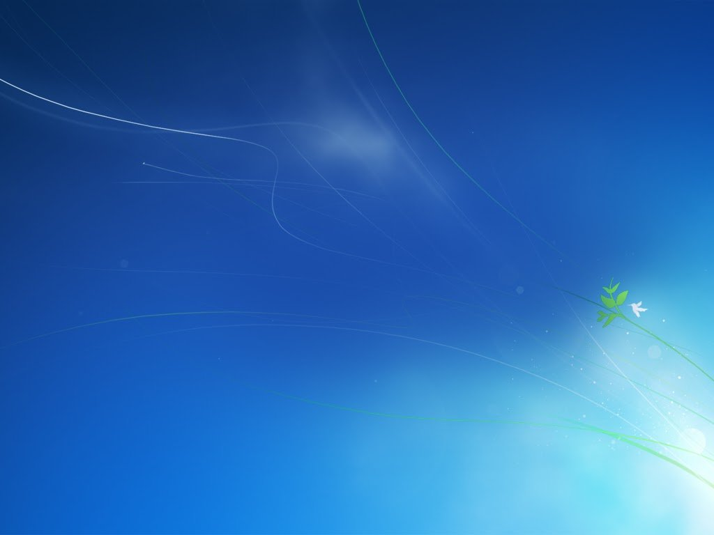 the new logon background which is prepared by Microsoft for Windows 7 1024x768