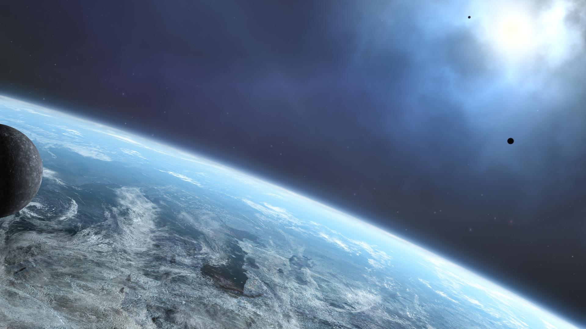 earth space planets 1920x1080