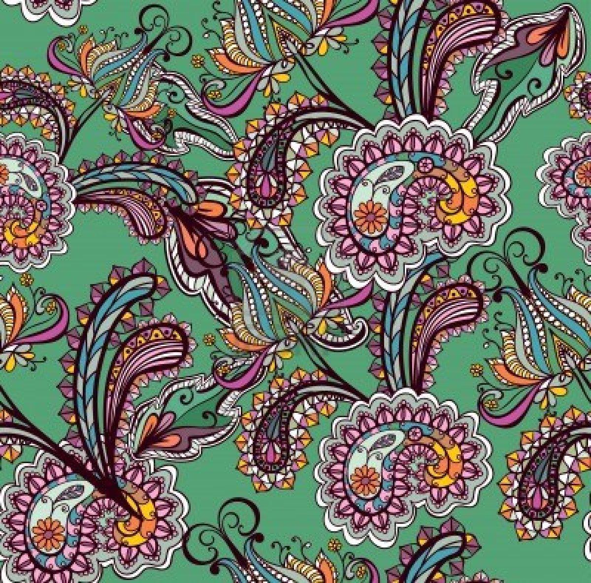 Black paisley wallpaper wallpapersafari for Paisley wallpaper