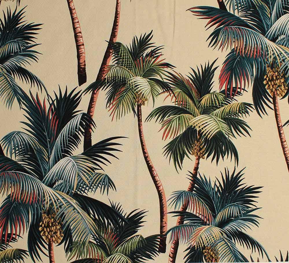 Palm Tree Print Wallpaper 11 tropical leaf print barkcloth fabrics in 1000x909