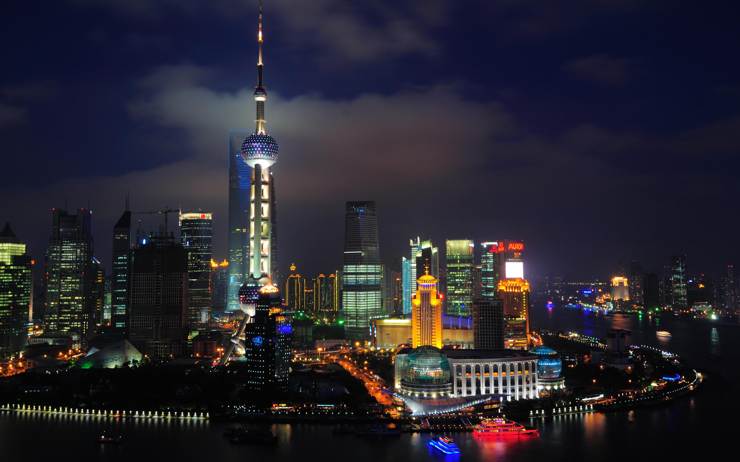 Shanghai Nights China Wallpapers HD Wallpapers 2560x1600
