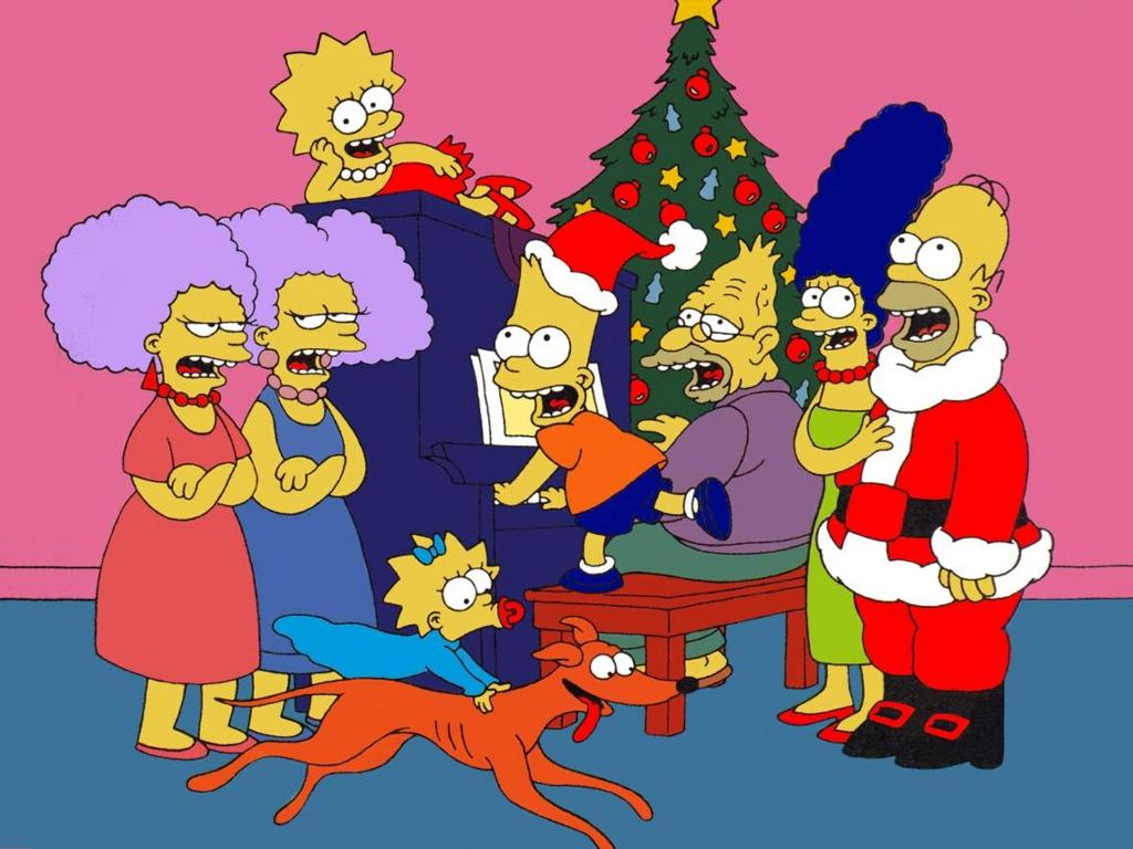 wallpaper simpsons christmas wallpaper 1024x768