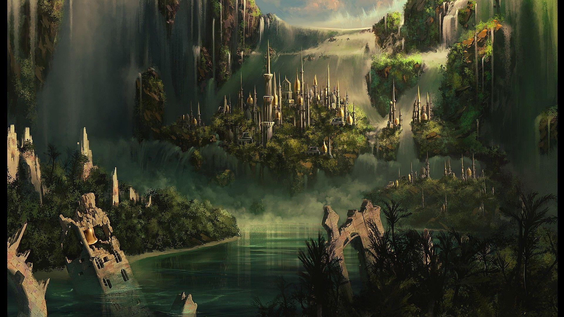 Kingdom among the jungle waterfall wallpaper 14735 1920x1080