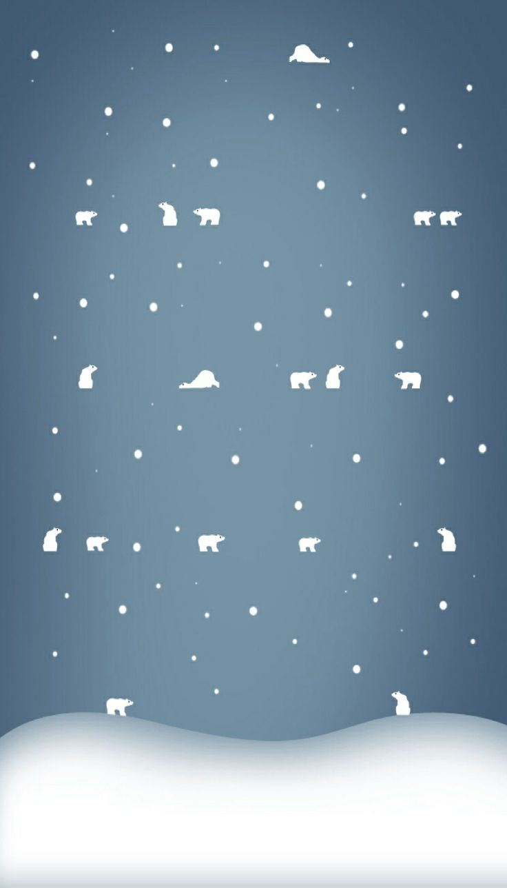 Cute Polar Bear Winter IPhone Wallpaper Background Pintere 736x1288