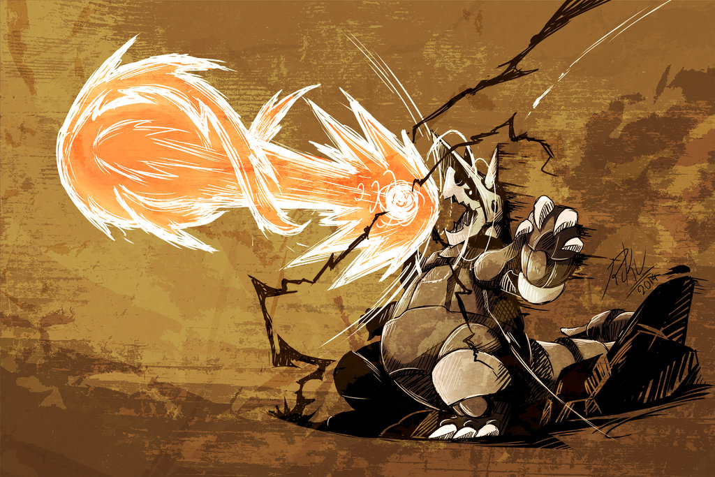 Aggron used Hyper Beam by LazyAmphy 1024x683