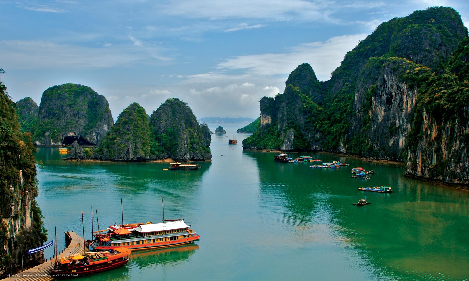 Download wallpaper Vietnam tropics sea desktop wallpaper in the 1600x958