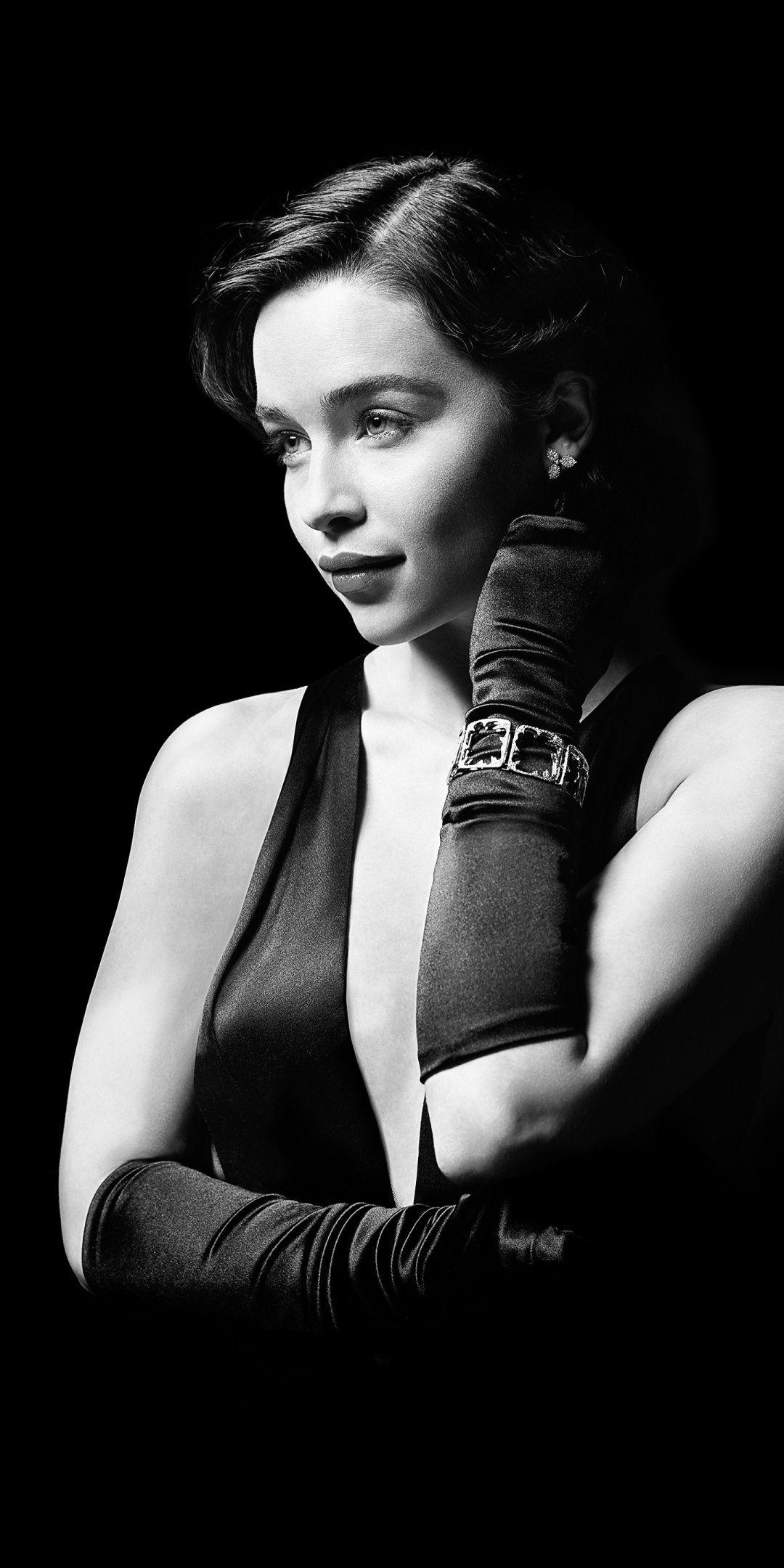 Emilia Clarke BW actress 1080x2160 wallpaper Photoshoot Ideas 1080x2160