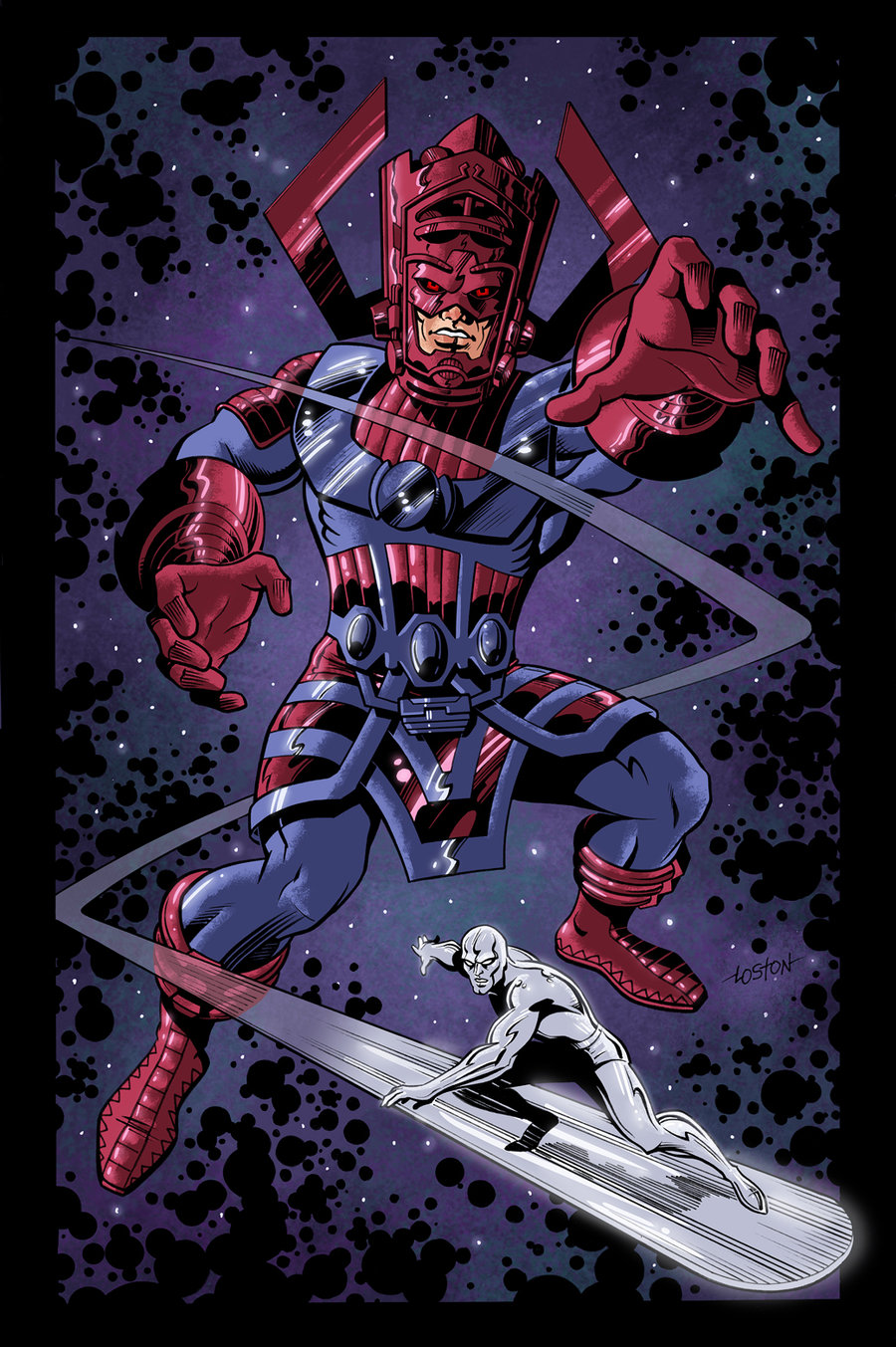 Galactus Wallpaper Galactus and surfer color by 900x1353