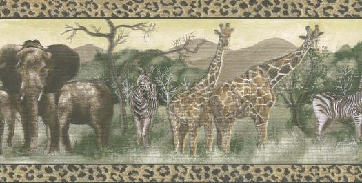 Animal Print Safari Wallpaper Border   Wallpaper Border Wallpaper 525x265