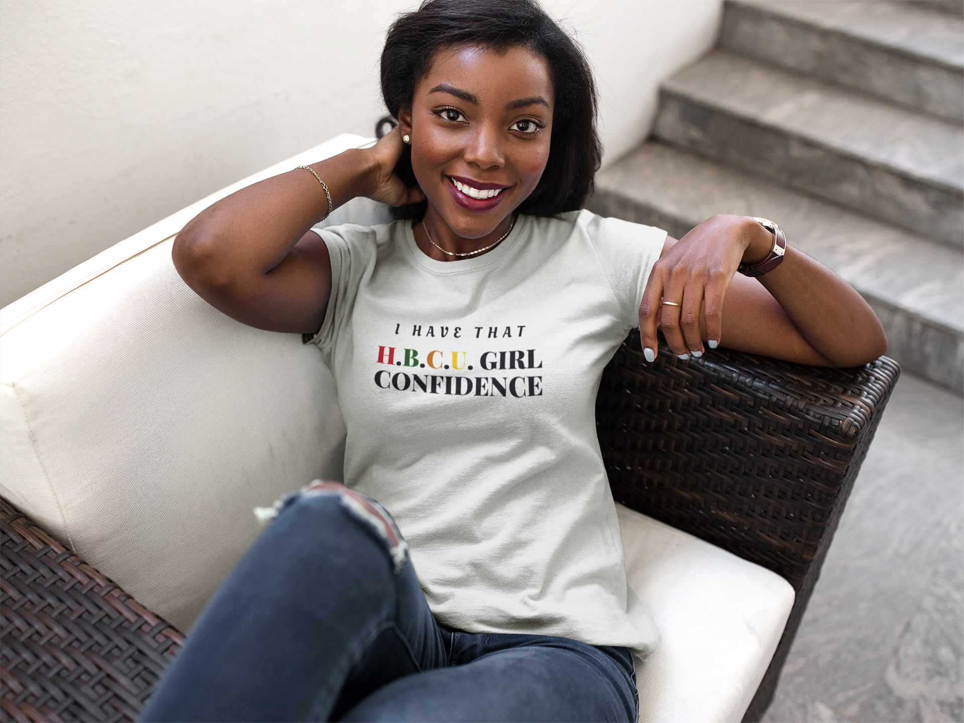 HBCU GIRL Confidence Short Sleeve T Shirt One Done Tees 1920x1440