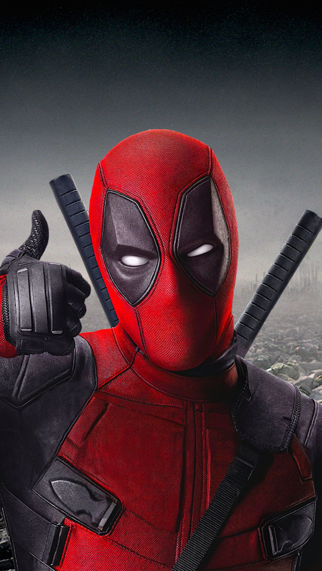 Deadpool Thumbs Up iPhone 5 Wallpaper 640x1136 640x1136