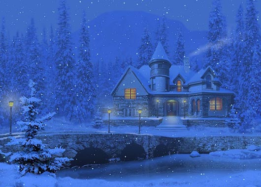 50 Beautiful Snowfall Season Wallpapers Warm Breath Feelings 530x381