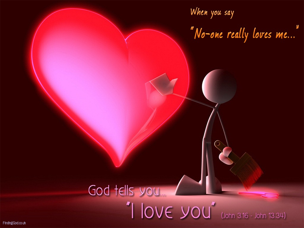 god loves you leave a comment christian wallpaper spiritual thoughts 1024x768