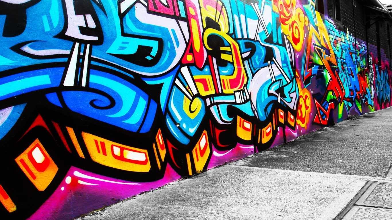 abstract graffiti wallpaper which is under the abstract wallpapers 1366x768