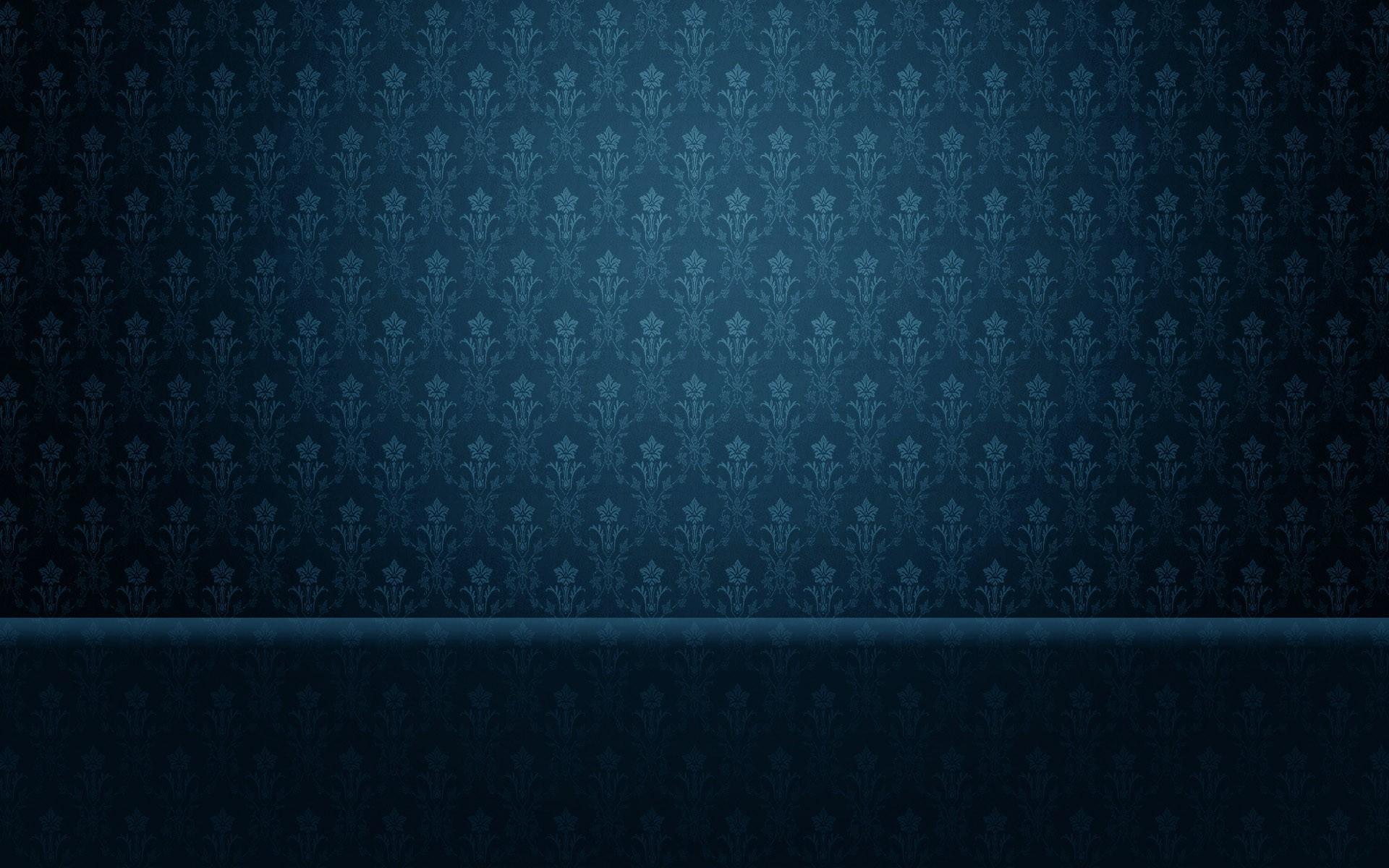 Blue vintage pattern wallpaper 15196 1920x1200