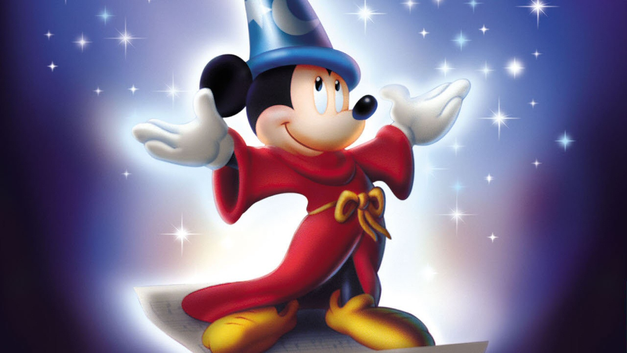 Mickey Mouse Fantasia Wallpaper - WallpaperSafari  Mickey Mouse Fa...