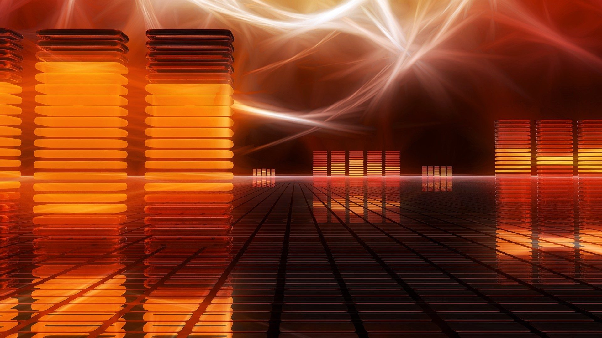 Fondo De Pantalla Abstracto Barras De Colores: Abstract Music Wallpapers