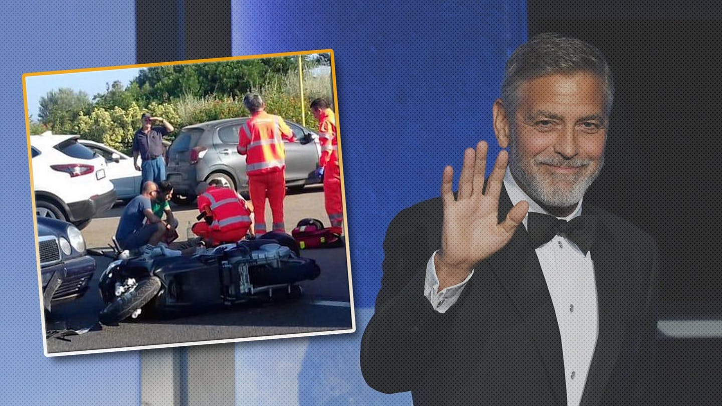 Actor George Clooney Recovering After Serious Motorcycle Crash in 1440x810