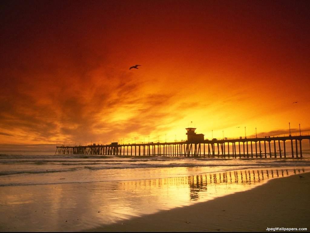 Southern California coast wallpaper 1024x768