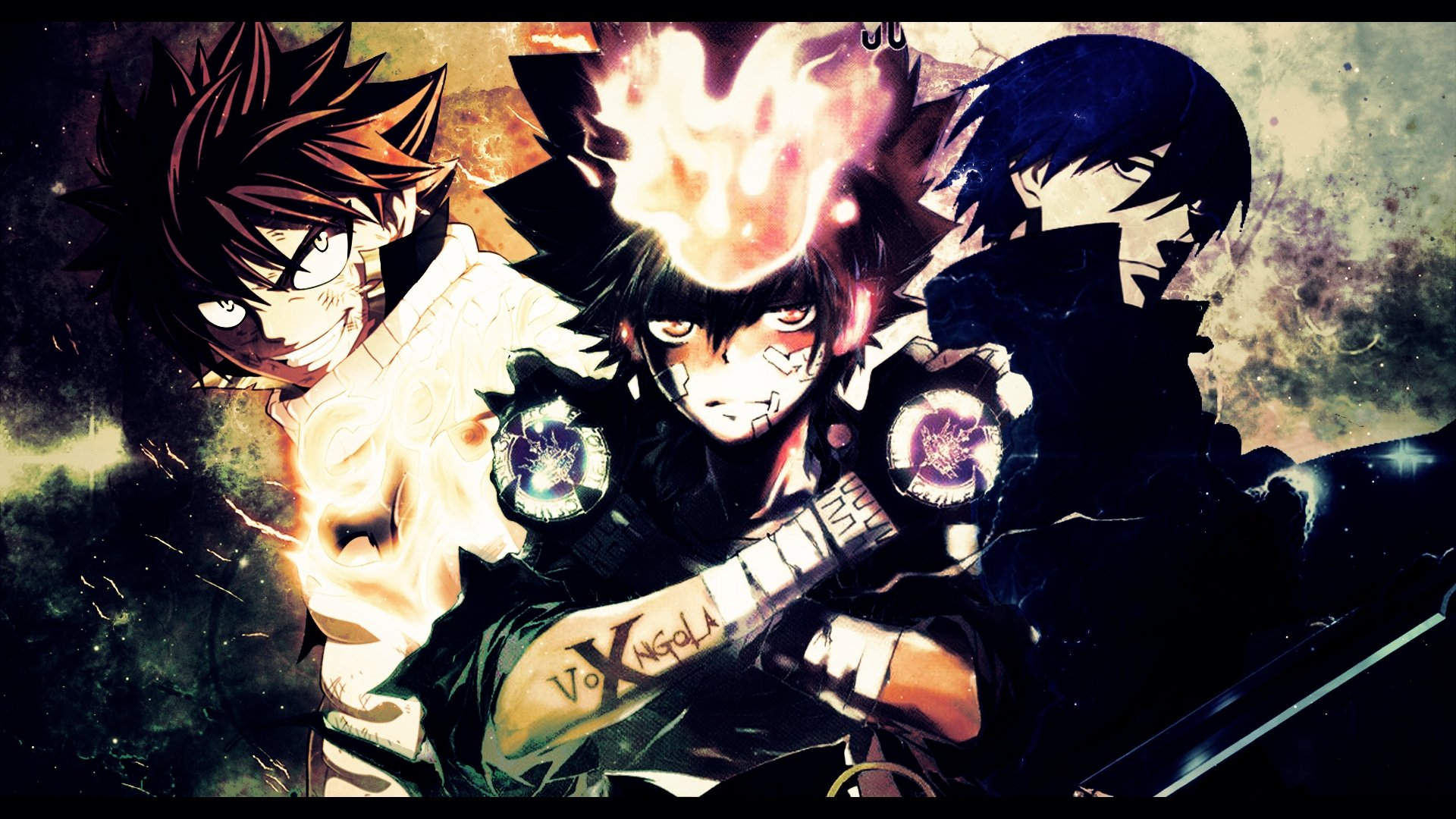 Download bunch of anime characters hd wallpaper HD wallpaper 1920x1080
