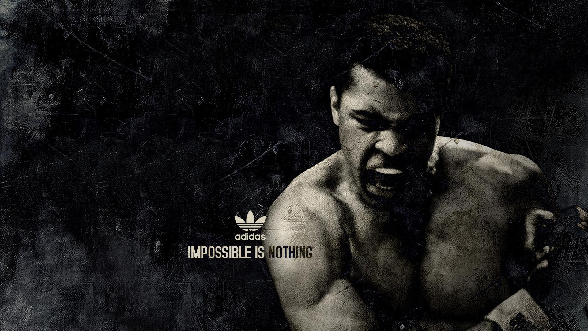 Download Wallpaper 1920x1080 muhammad ali boxer sports adidas Full 1920x1080