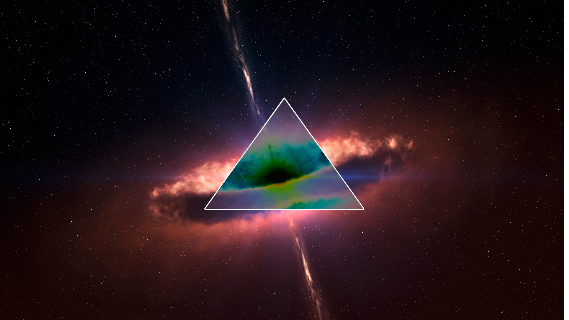 Trippy Space Twitter Backgrounds Trippy triangle by rollsart 1920x1080