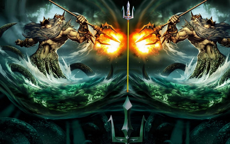 fantasy art goddess science fiction poseidon gods 1920x1080 wallpaper 1440x900