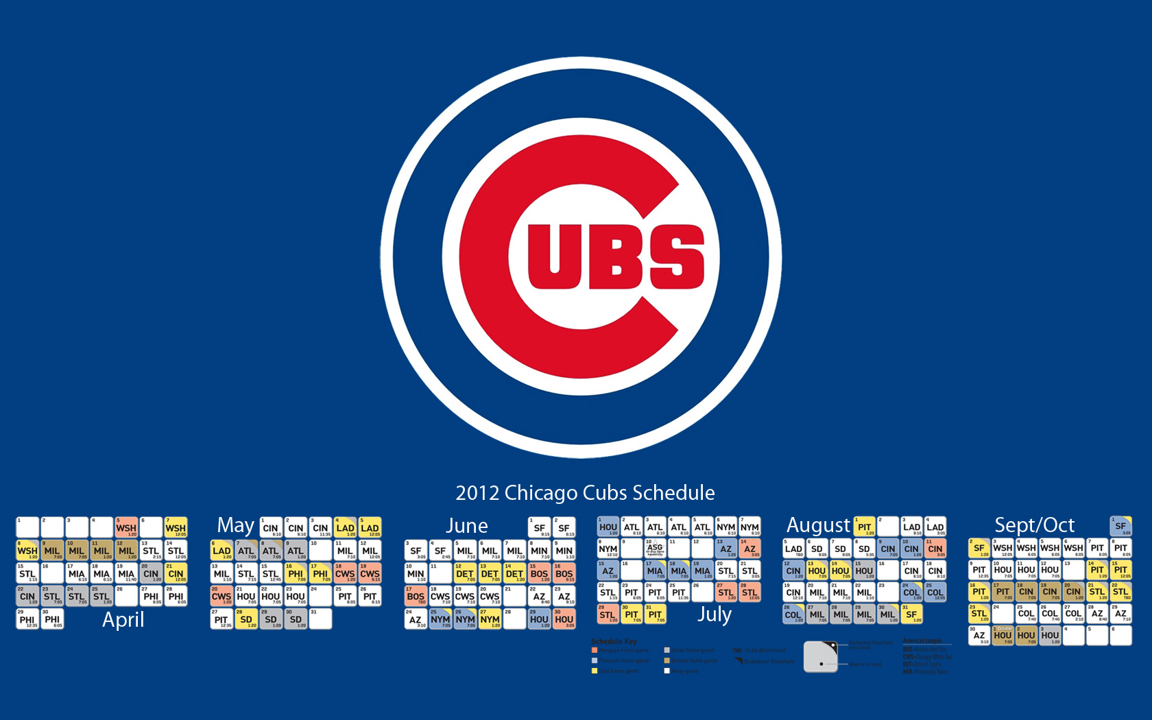 Chicago Cubs Desktop Wallpaper 1680x1050