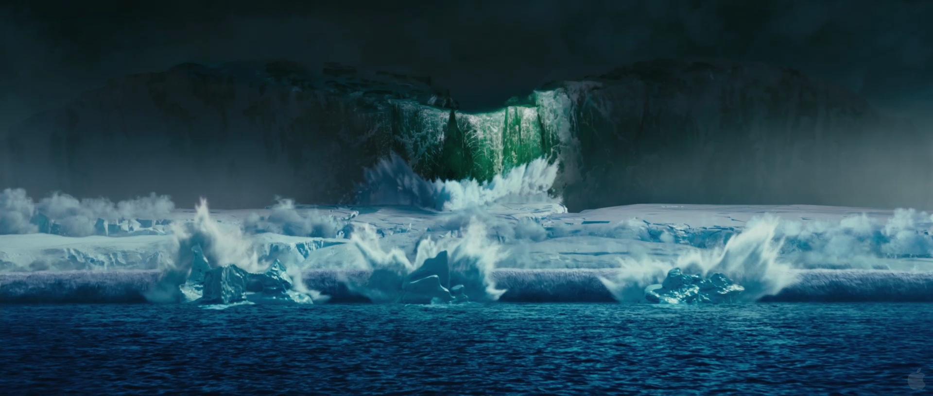 Glacier Calving in Happy Feet Two Desktop Wallpaper 1920x816