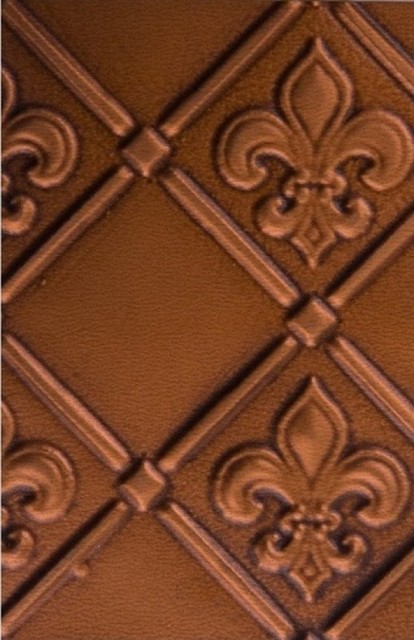 Tin   Backsplash Roll   Fleur de Lis   3 Pattern   Antique Copper 414x640