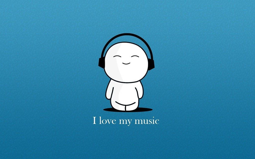 Love My Music With Blue Background Cartoon Hd Wallpapers MORE INFO 1024x640