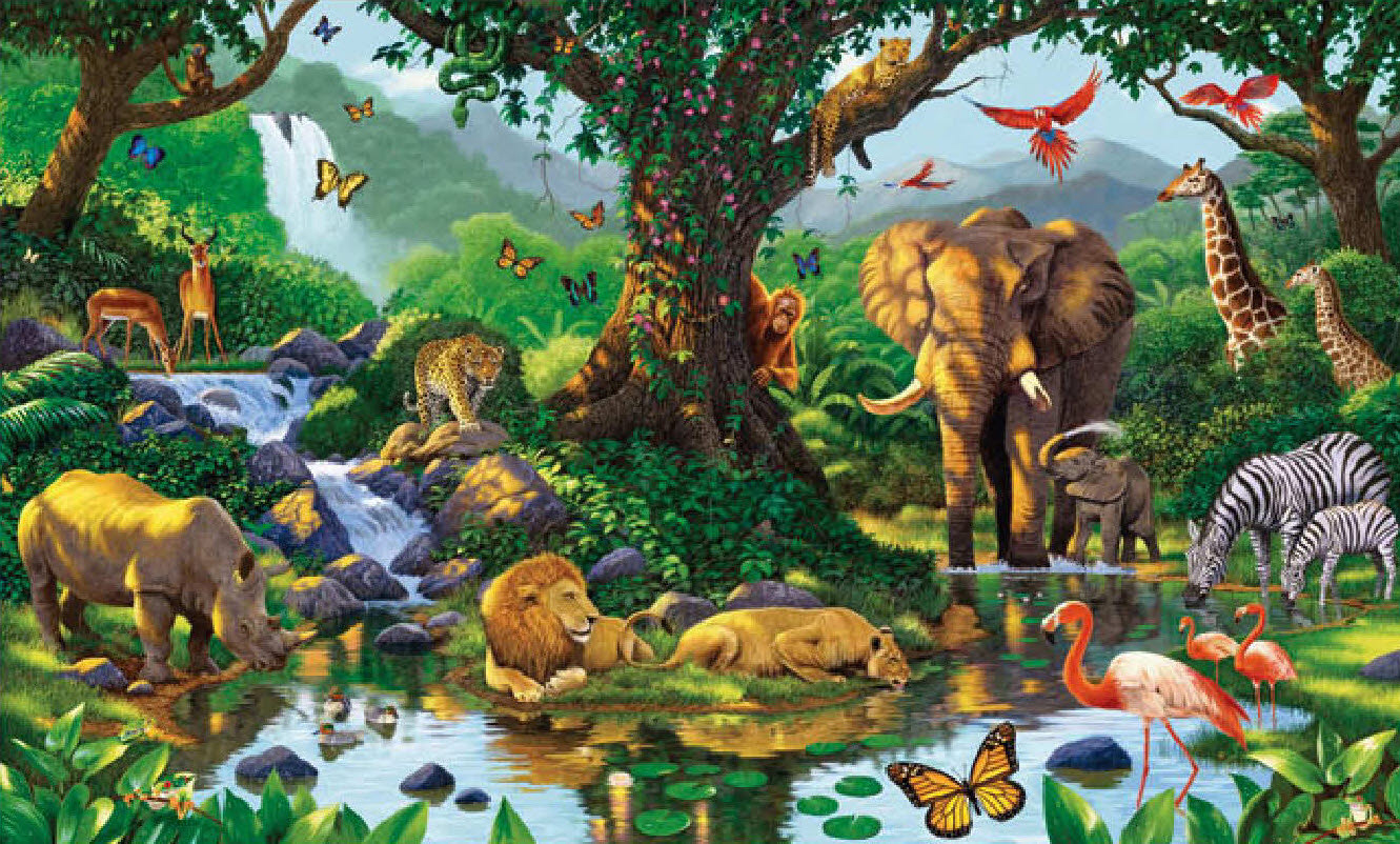 Jungle theme wallpaper wallpapersafari for Home wallpaper jungle