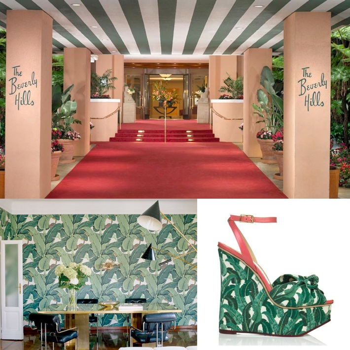 The beverly hills hotels famous wallpaper   Little Blue Dish 710x710