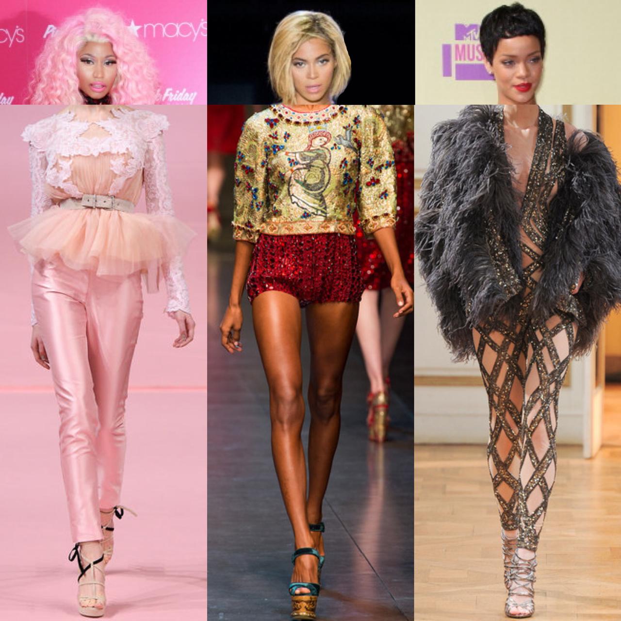Fantasy VMA Styling: Miley, Beyonce, Rihanna and More   Modamob