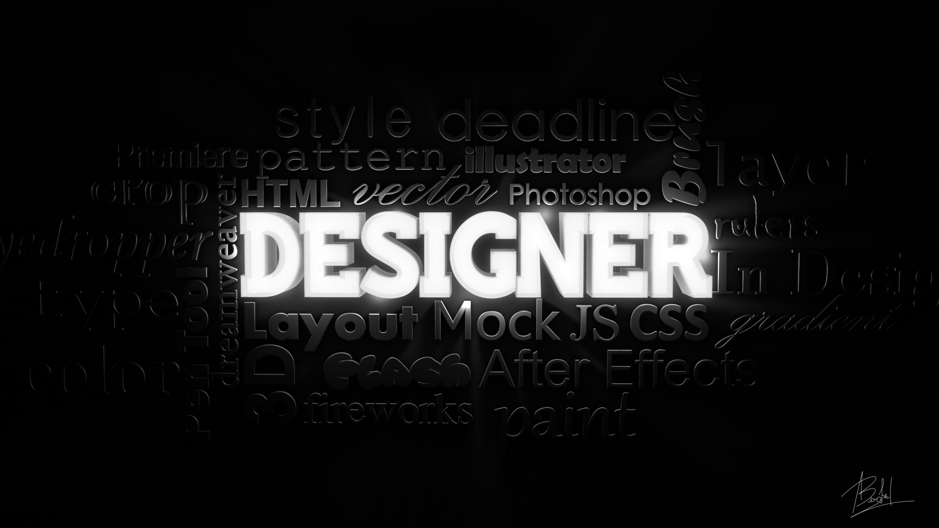 Designer wallpaper 3D by alin0090 1920x1080