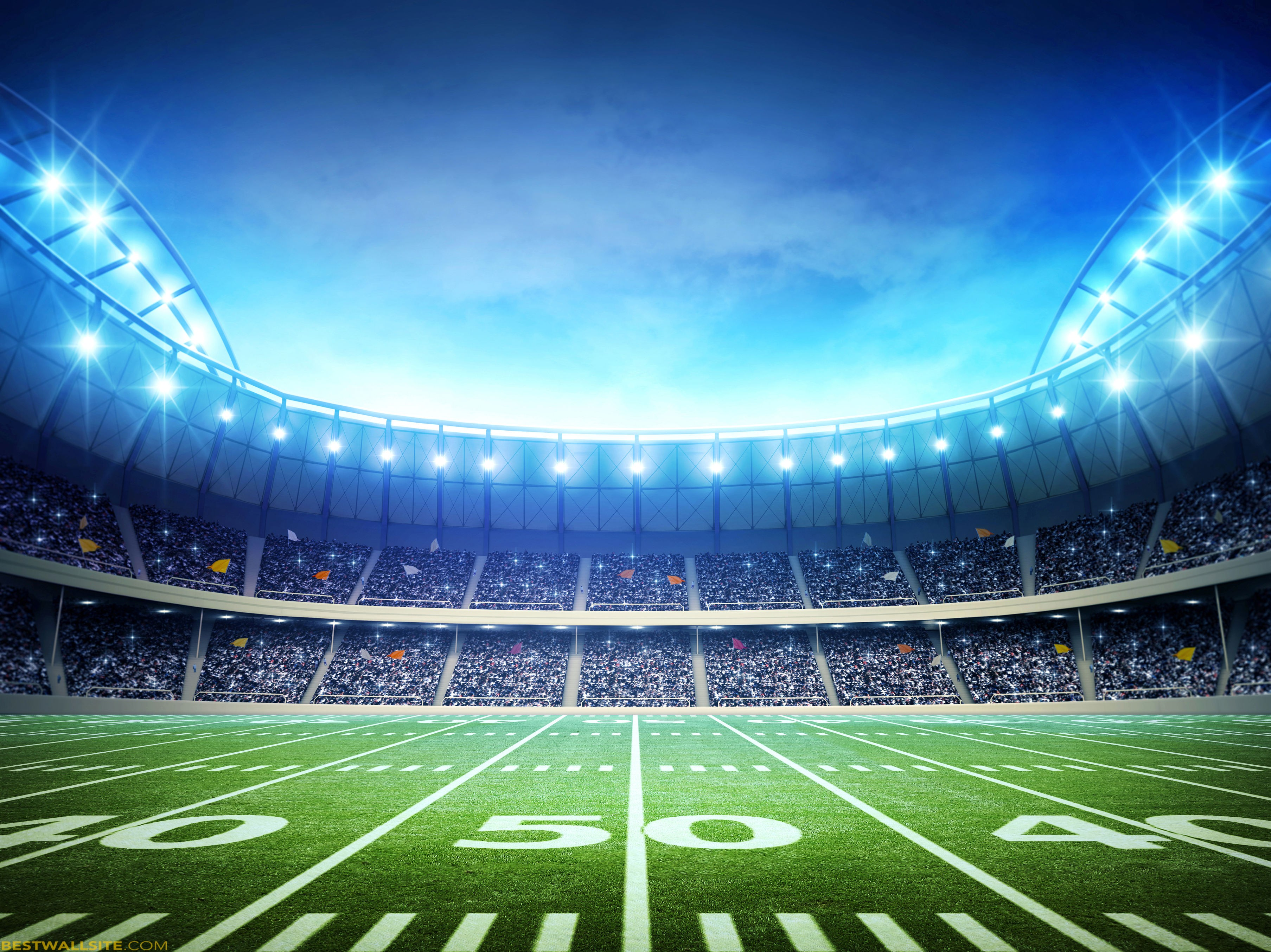 Football Field Wallpapers HD 3614x2708