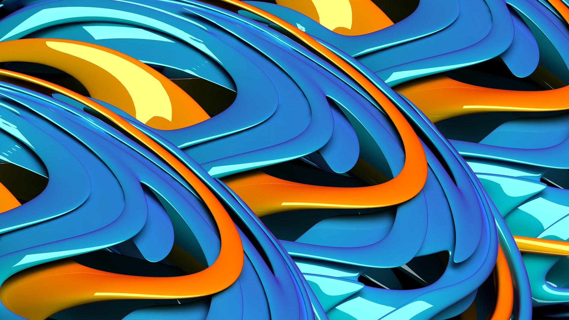 Orange Blue Stereo Backgrounds Widescreen and HD background Wallpaper 1920x1080