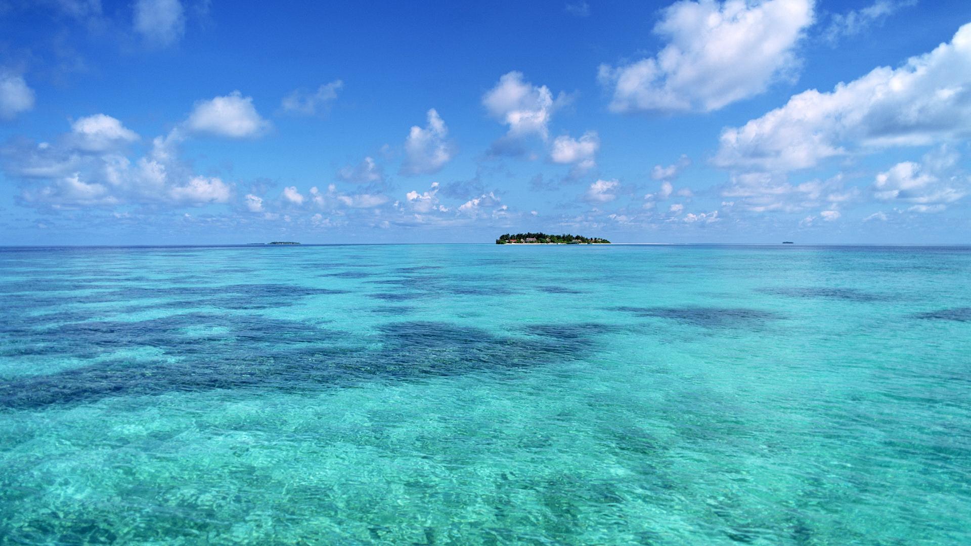 Water Ocean Wallpaper 1920x1080 Water Ocean Horizon Sea Islands 1920x1080