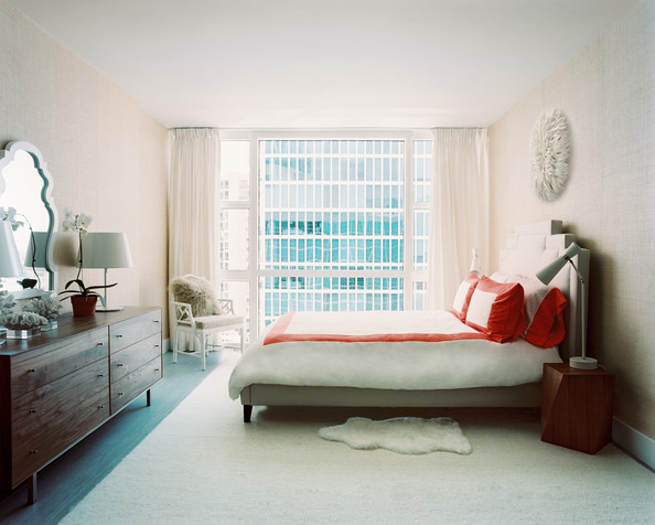 bedroom red and white bedding in a guest room details beige white 594x476