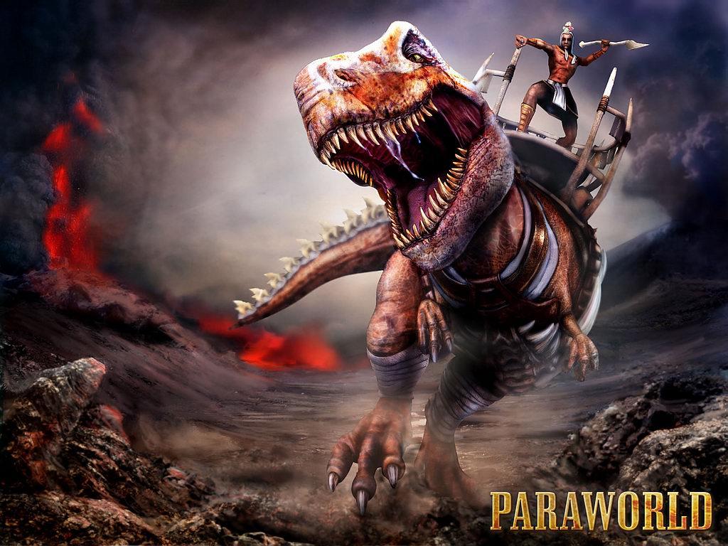 Paraworld   Man Riding Dinosaur Games Wallpaper   Background Bandit 1024x768