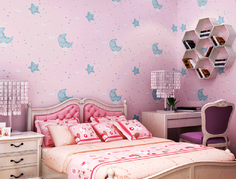 light purple wallpaper for girls bedroom cartoon girl bedroom pink 958x726
