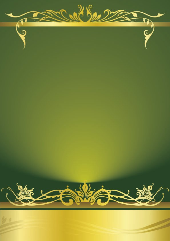 Background Wedding Invitation Template Green Cool 595x842