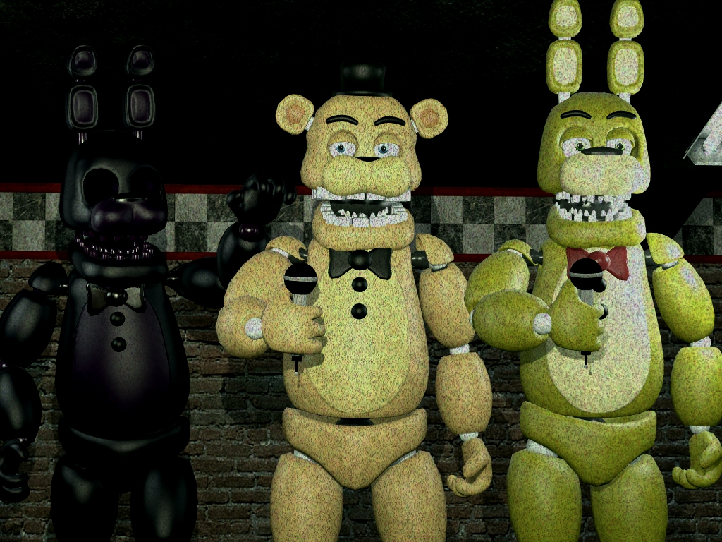Free download FNaF 3 Glitch minigame 3D by seanscomics
